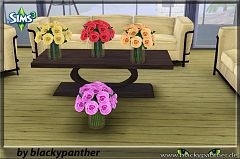 Sims 3 paintings, flowers, decor, objects