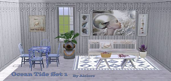 Sims 3 rug, wal, set, decor