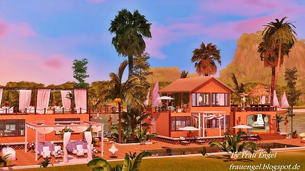 Sims 3 hotel, lot, community, resort