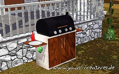 Sims 3 barbeque, grill, object, outdoor