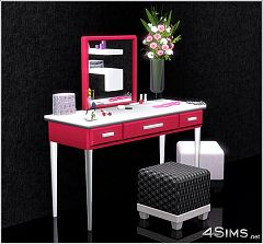Sims 3 vanity, bedroom, dresser, set, furniture