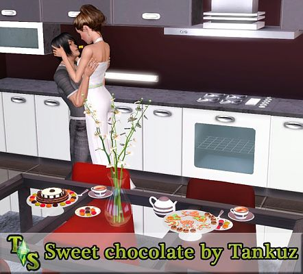 Sims 3 decor, set, choco