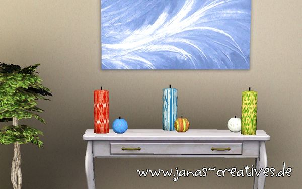Sims 3 candles, decor, objects