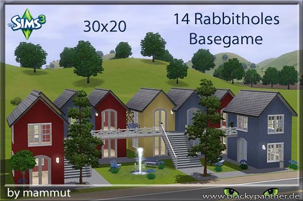 Sims 3 house, lot, residential, rabbithole