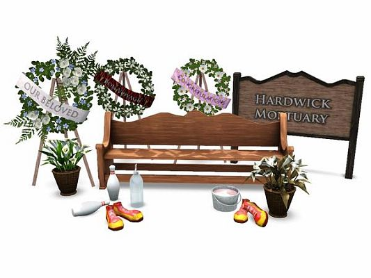 Sims 3 funeral, objects