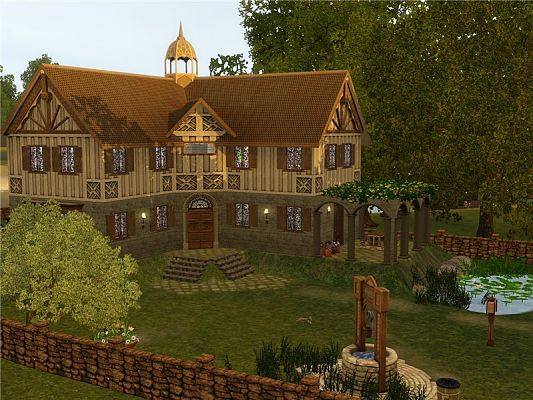 Sims 3 lot, residential, farm, oakery