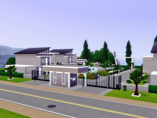 Sims 3 village, lot, residential