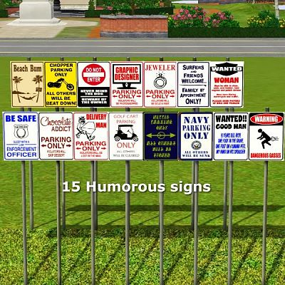 Sims 3 sign, object, decor, sims3