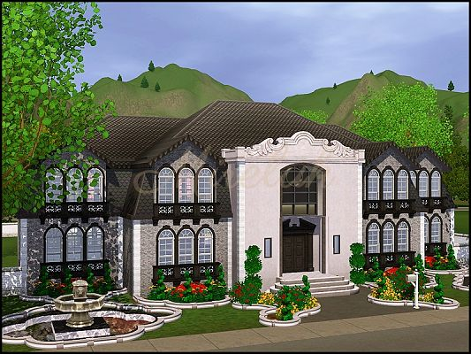 Sims 3 chateau, house, residential