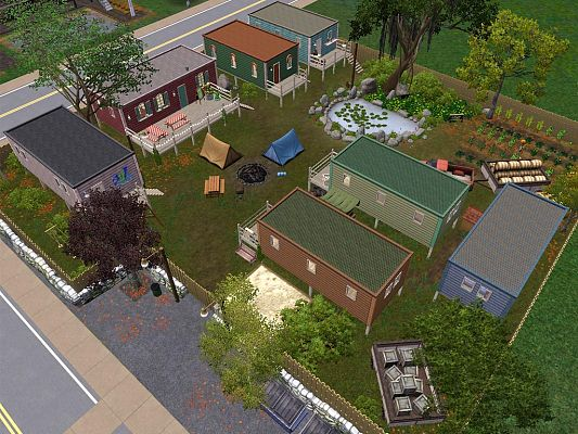 Sims 3 park, lot, residential