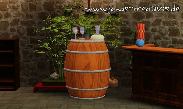 Sims 3 table, wine, cellar