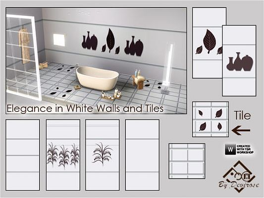Sims 3 wall, wallpaper, decor, tiles