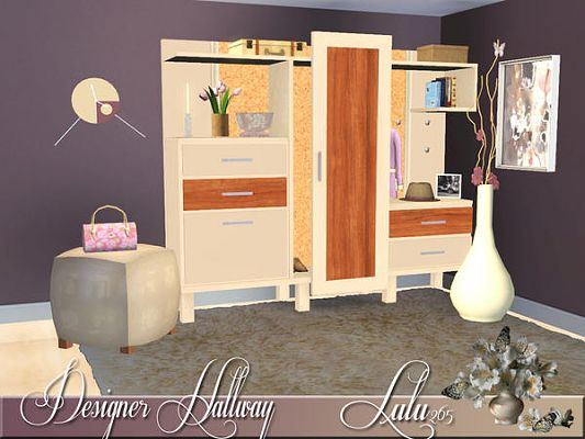 Sims 3 hallway, hall, furniture