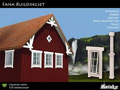 Sims 3 window, build, set