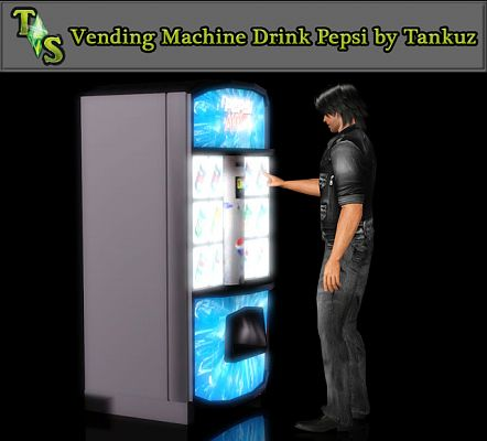 Sims 3 machine, Pepsi, vendor