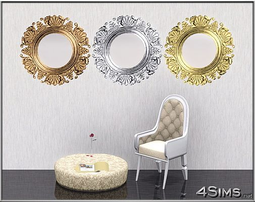 Sims 3 mirror, decor, objects, antique, modern, design