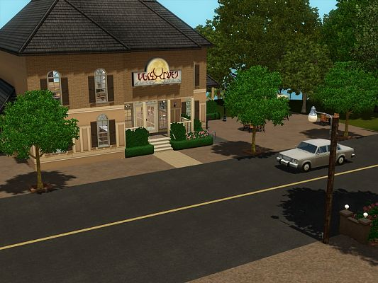 Sims 3 bar, grill, local, lot