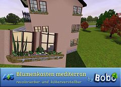 Sims 3 flower, box, outdoor