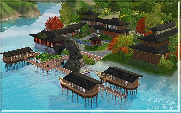 Sims 3 spa, resort, lot, community