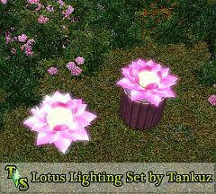 Sims 3 light, lamp, lotus