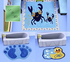 Sims 3 rugs, decor, kids, children
