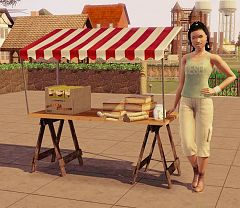 Sims 3 food, stand, produce
