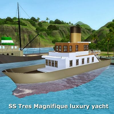 Sims 3 yacht, lot, boat
