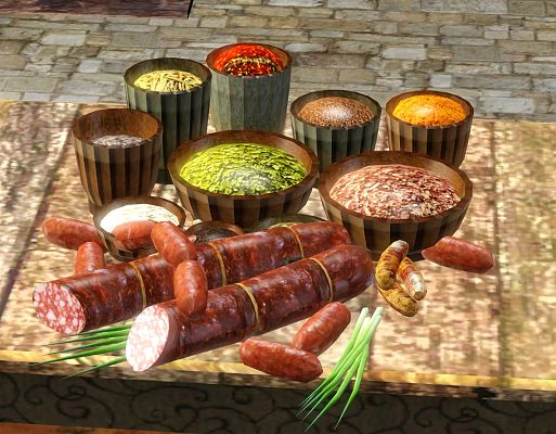 Sims 3 food, set, objects