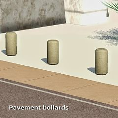 Sims 3 pavement, bollard,