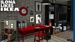 Sims 3 study, room, office, furniture, objects, sims3