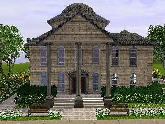Sims 3 community, lot, library