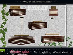 Sims 3 lamp, light, wood