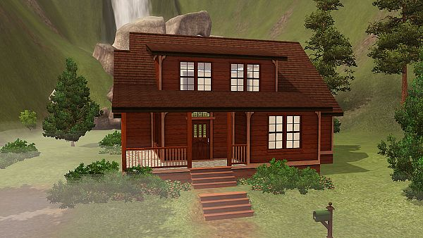 Sims 3 cabin, house, lot, residential