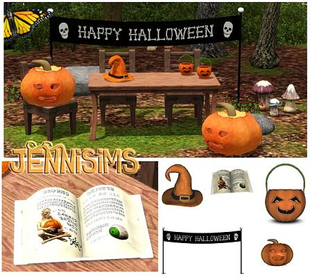 Sims 3 objects, set, halloween