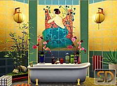 Sims 3 wall tile, objects