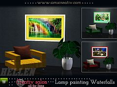 Sims 3 lamp, light, painting