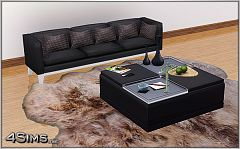 Sims 3 ottoman, coffee table, furniture, decor, tray, object
