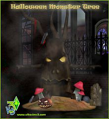 Sims 3 halloween, tree, scary, monster