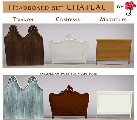 Sims 3 headboard, bed, chateau