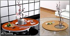Sims 3 table, coffee, furniture, objects, round