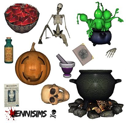 Sims 3 objects, decor, halloween