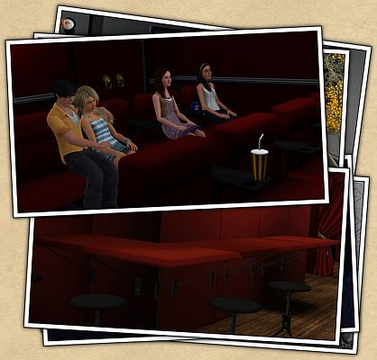Sims 3 objects, decor, set, theater