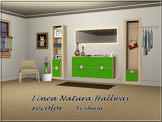 Sims 3 hall, furniture, hallway