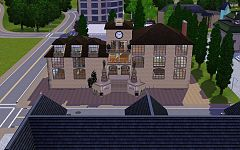 Sims 3 lot, commercial, museum, palace, build, arhitecture
