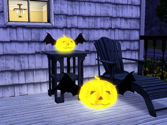 Sims 3 light, pumpkin, light