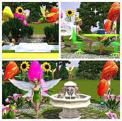 Sims 3 scupltures, build, lamps, outdoor