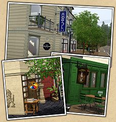 Sims 3 signs, outdoor, objects, decor