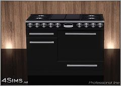 Sims 3 stove, oven, gas, appliances, kitchen, professional