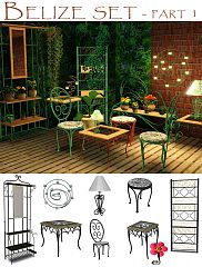 Sims 3 furniture, iron, garden