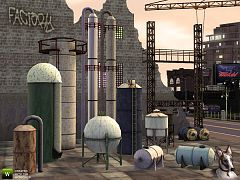 Sims 3 tank, silos, objects